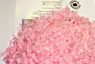 Grote foto marseille zeepvlokken rose 1 x 750g sieraden tassen en uiterlijk lichaamsverzorging