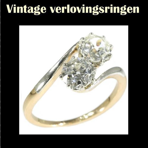 Grote foto prachtige belle epoque verlovingsring sieraden tassen en uiterlijk ringen voor haar