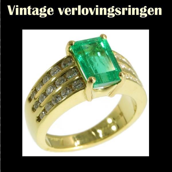 Grote foto gouden vintage kutchinsky verlovingsring sieraden tassen en uiterlijk ringen voor haar