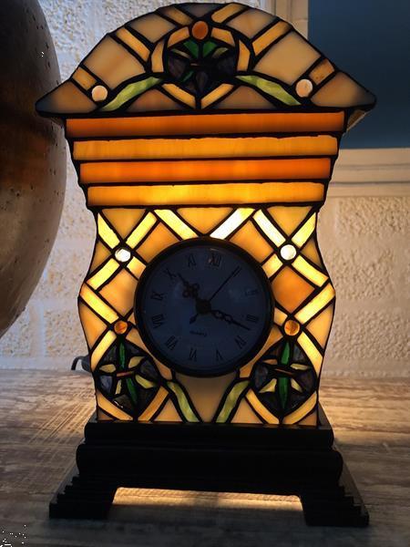 Grote foto prachtige geel oranje groene tiffany klok laatste antiek en kunst klokken