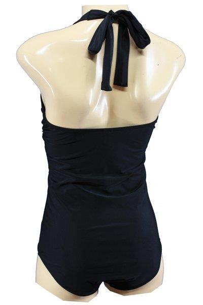 Grote foto aloha beachwear 1950 bathingsuit in black. kleding dames badmode en zwemkleding