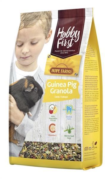 Grote foto hobbyfirst hopefarms guinea pig granola 800 gr dieren en toebehoren knaagdier accessoires