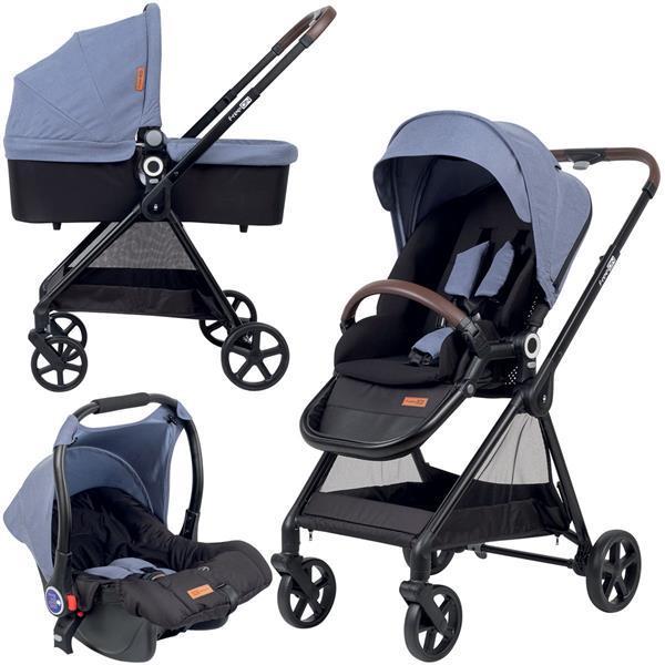 Grote foto freeon kinderwagen elegance 3 in 1 blauw incl. autostoel kinderen en baby kinderwagens