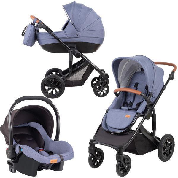 Grote foto freeon kinderwagen comfort 3 in 1 blauw incl. autostoel kinderen en baby kinderwagens