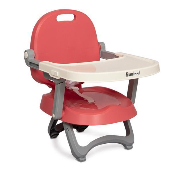 Grote foto baninni sopra stoelverhoger booster seat met eetblad pink kinderen en baby kinderstoelen