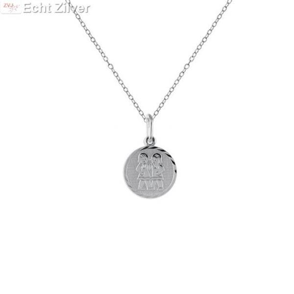 Grote foto zilveren collier sterrenbeeld tweelingen sieraden tassen en uiterlijk ringen voor haar