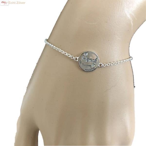 Grote foto zilveren en quotmama en 039 te quiero mucho en quot armban sieraden tassen en uiterlijk armbanden voor haar