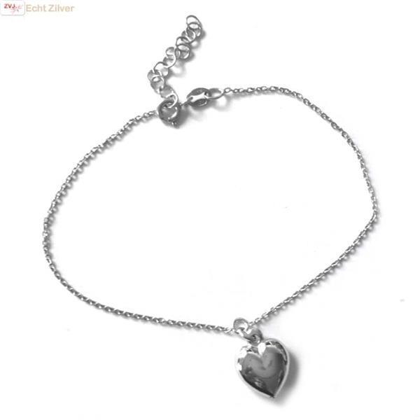 Grote foto zilveren bol hartje armbandje sieraden tassen en uiterlijk armbanden voor haar