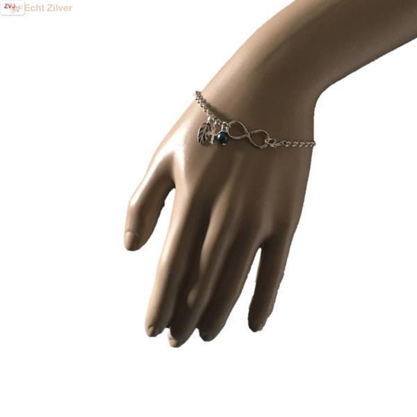 Grote foto zilveren infinity armband veer kruis parel bedel sieraden tassen en uiterlijk armbanden voor haar
