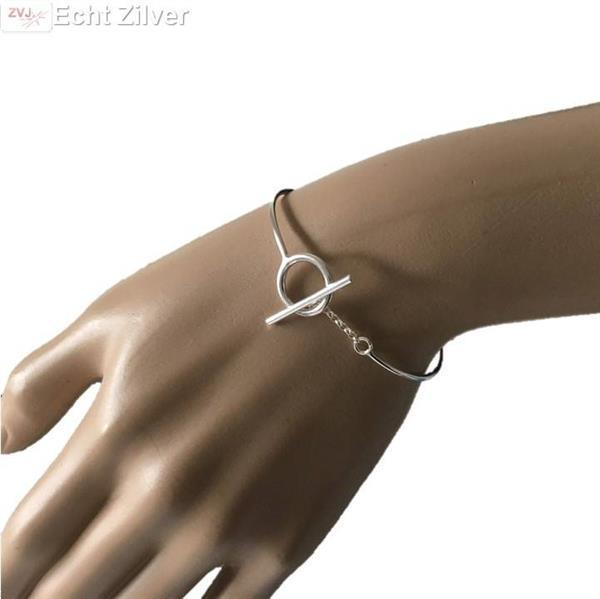 Grote foto zilveren toggle armband sieraden tassen en uiterlijk armbanden voor haar