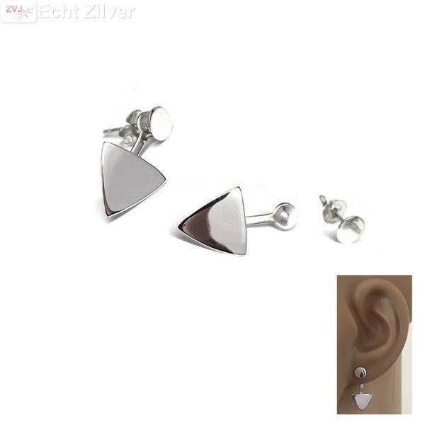 Grote foto zilveren cirkel triangel oorstekers sieraden tassen en uiterlijk oorbellen