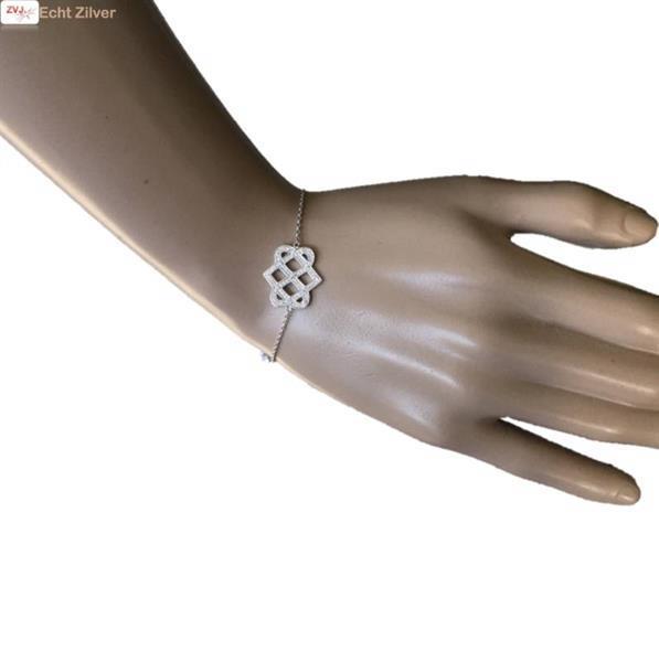 Grote foto zilveren armband fantasie cz 17 3cm rhodium new bling sieraden tassen en uiterlijk armbanden voor haar