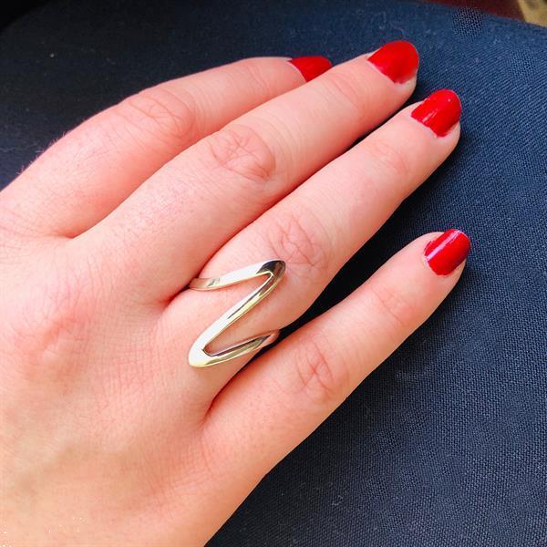 Grote foto zilveren bliksem ring sieraden tassen en uiterlijk ringen voor haar