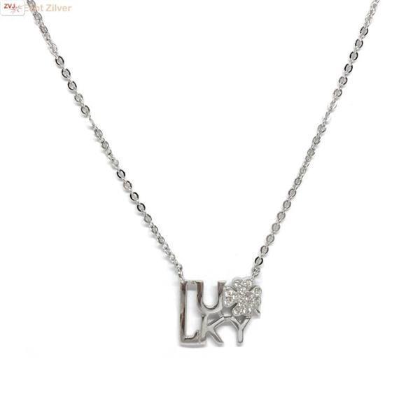 Grote foto zilveren lucky collier sieraden tassen en uiterlijk kettingen