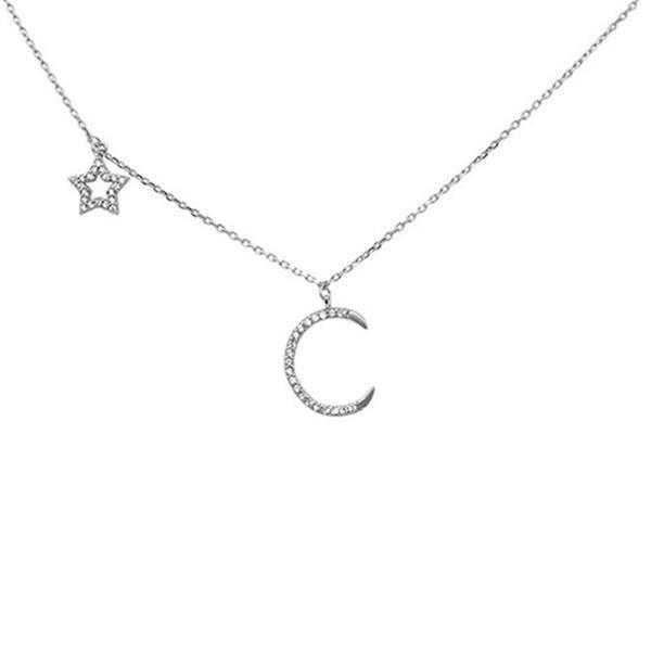 Grote foto zilveren moon en star ketting sieraden tassen en uiterlijk ringen voor haar