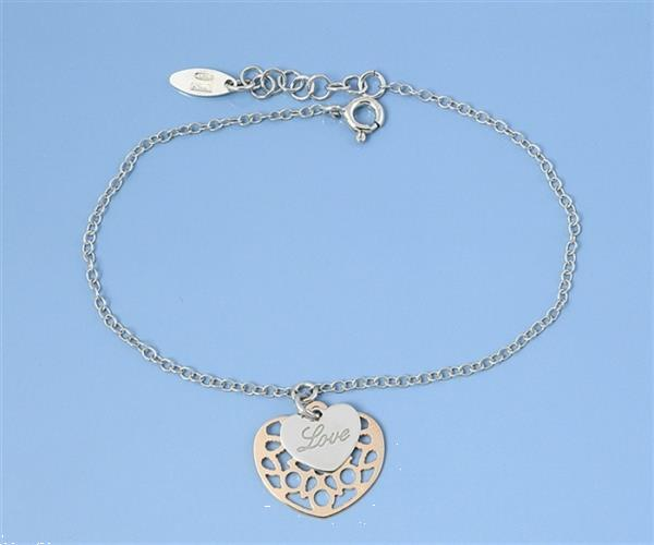 Grote foto zilveren ros gouden love hartje armbandje sieraden tassen en uiterlijk armbanden voor haar