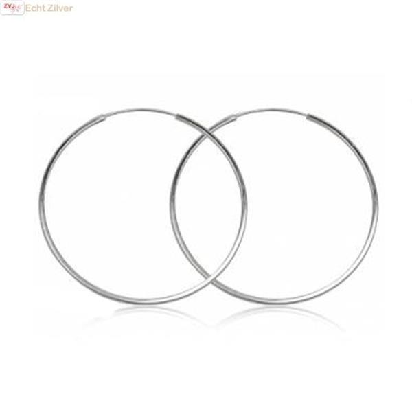 Grote foto zilveren oorringen 50 mm 1 5 mm vierkante buis sieraden tassen en uiterlijk oorbellen