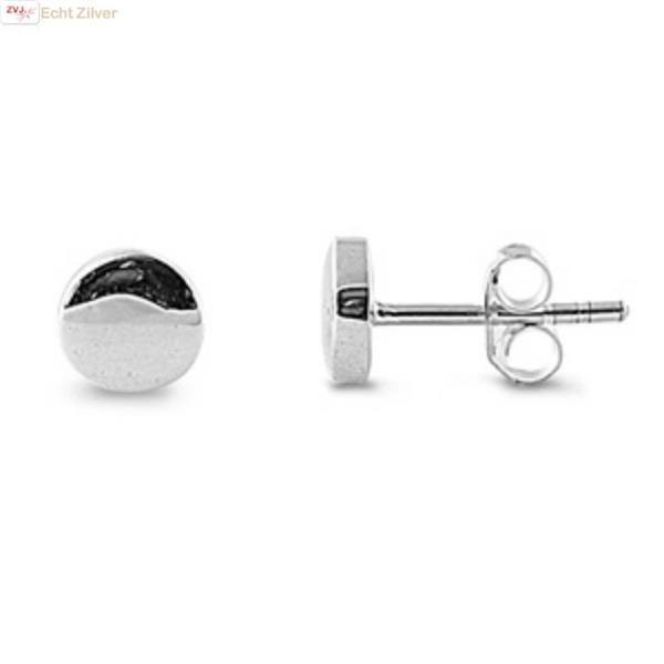 Grote foto zilveren kleine ronde cirkel oorstekers sieraden tassen en uiterlijk oorbellen