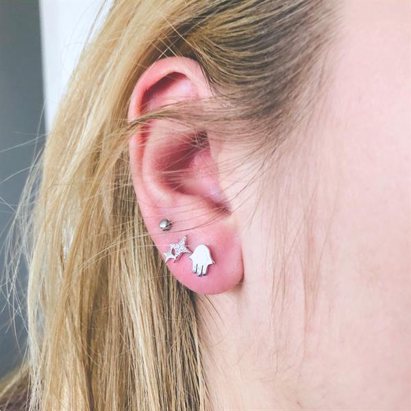 Grote foto zilveren jellyfish oorstekers sieraden tassen en uiterlijk oorbellen