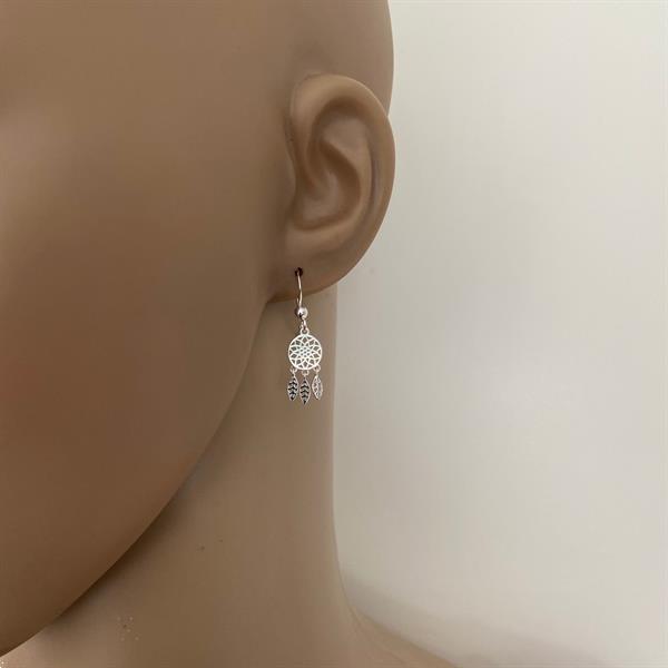Grote foto zilveren kleine dromenvanger oorbellen sieraden tassen en uiterlijk oorbellen