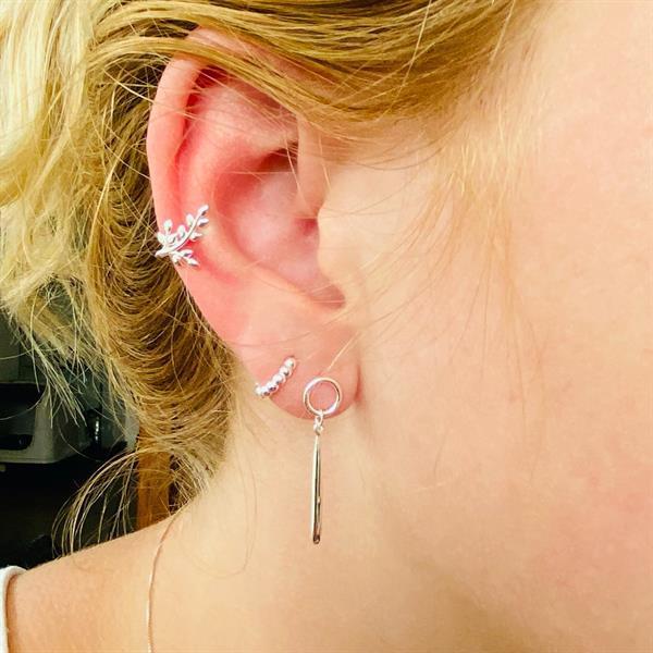 Grote foto zilveren cirkel druppel oorhangers sieraden tassen en uiterlijk oorbellen
