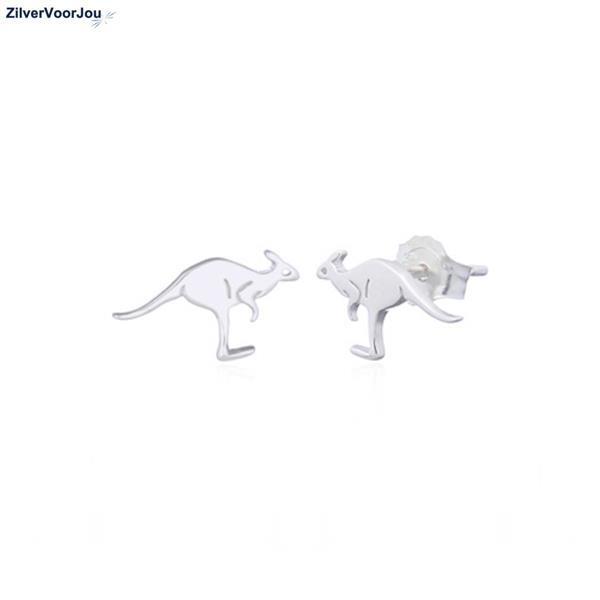 Grote foto zilveren kangaroo oorstekers sieraden tassen en uiterlijk oorbellen