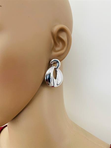 Grote foto zilveren design electroform oorbellen sieraden tassen en uiterlijk oorbellen