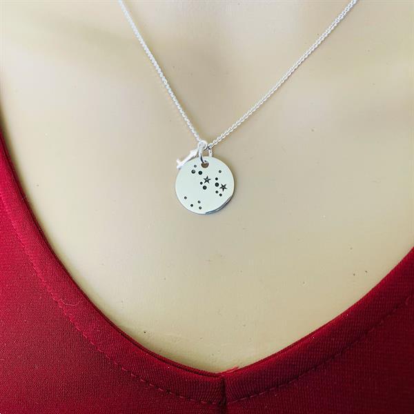 Grote foto zilveren sagittarius zodiak ketting sieraden tassen en uiterlijk kettingen