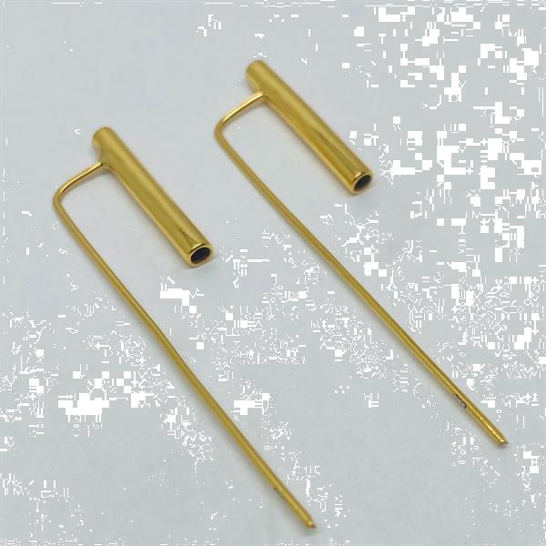 Grote foto goud op zilver design koker haak oorhangers sieraden tassen en uiterlijk oorbellen