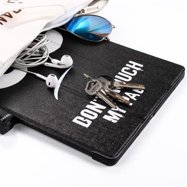 Grote foto angry expression pattern horizontal flip pu leather case for telecommunicatie mobieltjes