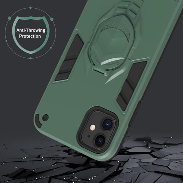 Grote foto for iphone 11 2 in 1 armor knight series pc tpu protective telecommunicatie mobieltjes