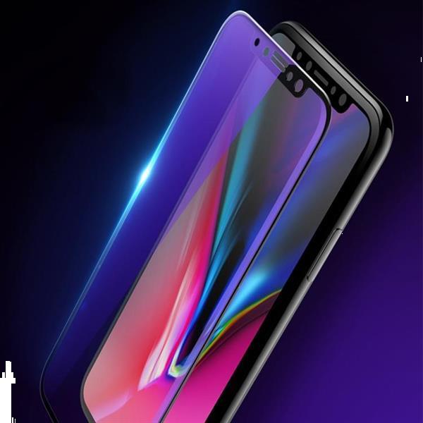 Grote foto for iphone 11 xr 2pcs mocolo 0.33mm 9h 2.5d full glue anti telecommunicatie mobieltjes