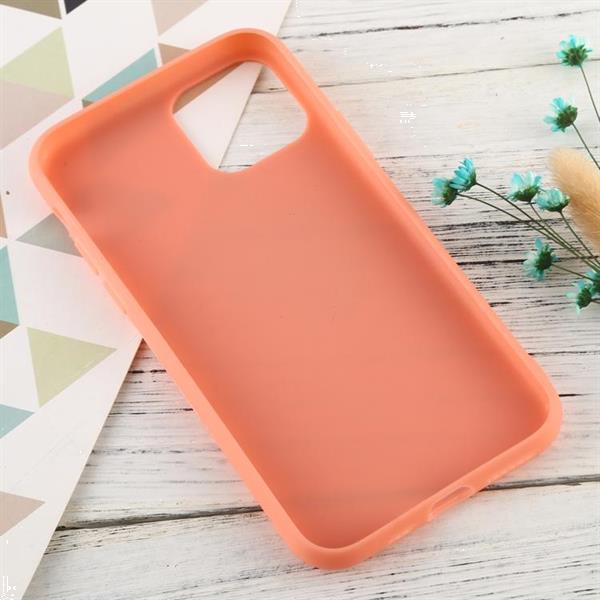 Grote foto for iphone 11 candy color tpu case apricot default title telecommunicatie mobieltjes