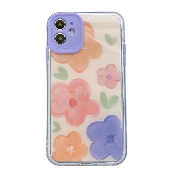 Grote foto for iphone 11 fine hole series tpu acrylic anti fall flowe telecommunicatie mobieltjes