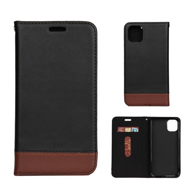 Grote foto for iphone 11 genuine leather horizontal flip leather case w telecommunicatie mobieltjes