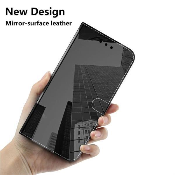 Grote foto for iphone 11 imitated mirror surface horizontal flip leathe telecommunicatie mobieltjes