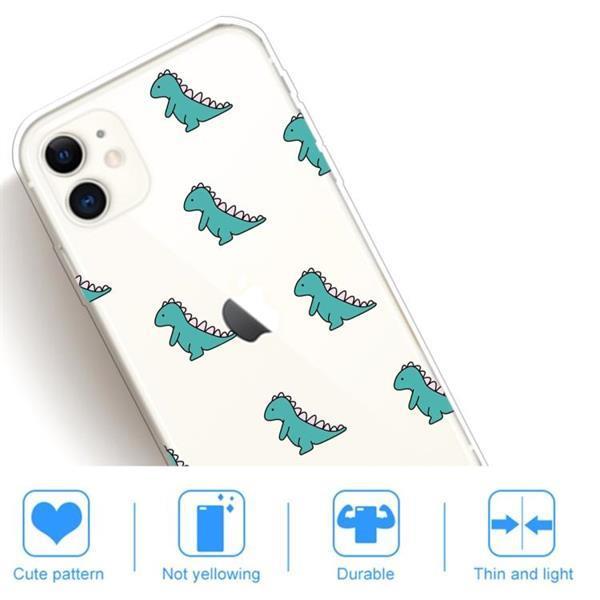 Grote foto for iphone 11 lucency painted tpu protective mini dinosaur telecommunicatie mobieltjes