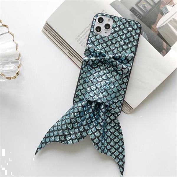Grote foto for iphone 11 mermaid gem pattern glitter powder tpu case gr telecommunicatie mobieltjes