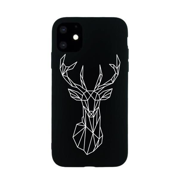 Grote foto for iphone 11 painted pattern soft tpu protective case elk telecommunicatie mobieltjes