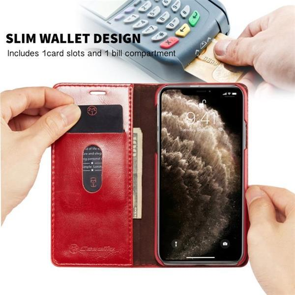 Grote foto for iphone 11 pro caseme 003 pu pc business style crazy ho telecommunicatie mobieltjes