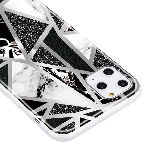 Grote foto for iphone 11 pro max geometric marble series frosted transl telecommunicatie mobieltjes