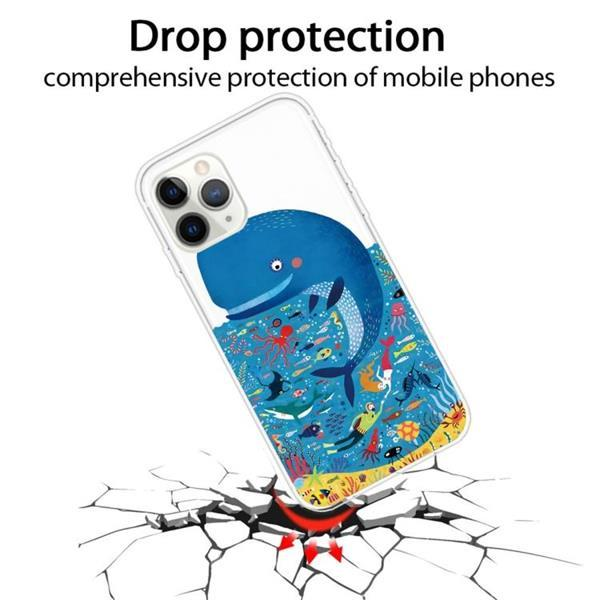 Grote foto for iphone 11 pro max pattern tpu protective case whale seab telecommunicatie mobieltjes