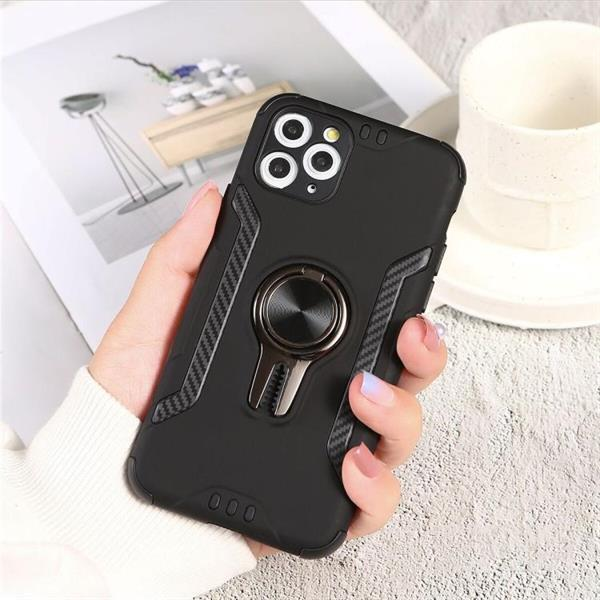 Grote foto for iphone 11 pro shockproof tpu pc case with ring holder telecommunicatie mobieltjes