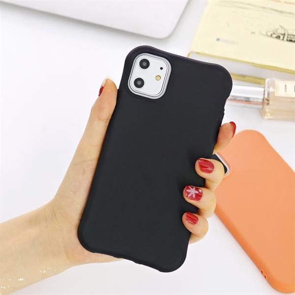 Grote foto for iphone 11 pro solid color tpu slim shockproof protective telecommunicatie mobieltjes