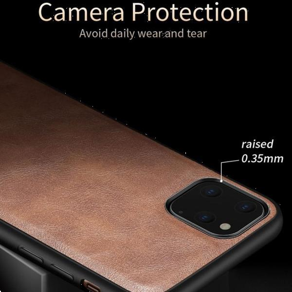 Grote foto for iphone 11 pro x level earl iii series leather texture ul telecommunicatie mobieltjes