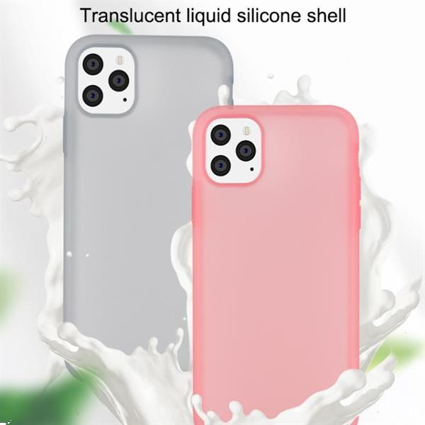 Grote foto for iphone 11 pro yuese serie shockproof soft liquid silicon telecommunicatie mobieltjes