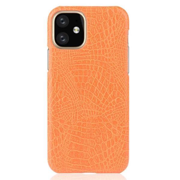 Grote foto for iphone 11 shockproof crocodile texture pc pu case oran telecommunicatie mobieltjes