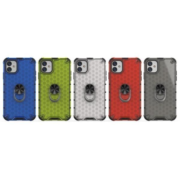 Grote foto for iphone 11 shockproof honeycomb pc tpu ring holder prot telecommunicatie mobieltjes
