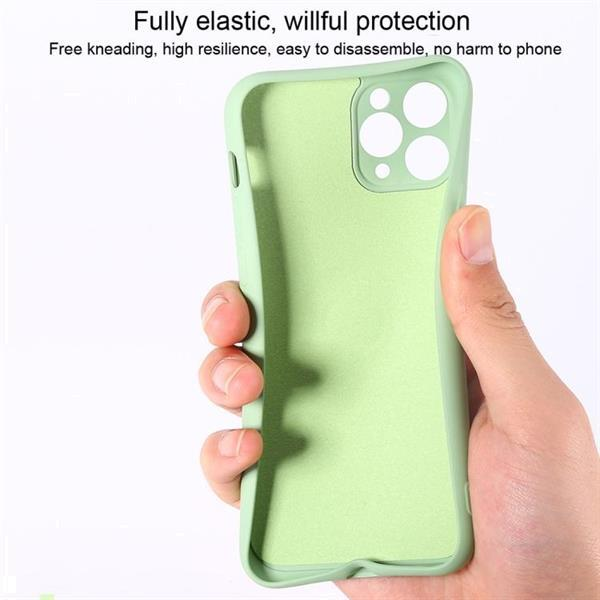 Grote foto for iphone 11 solid color liquid silicone shockproof full co telecommunicatie mobieltjes