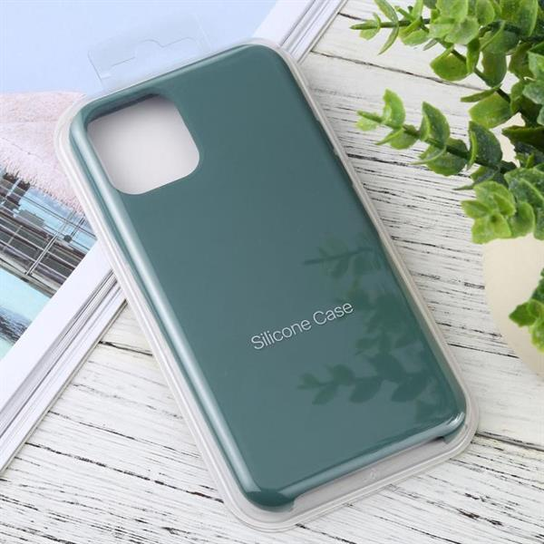 Grote foto for iphone 11 solid color solid silicone shockproof case pu telecommunicatie mobieltjes
